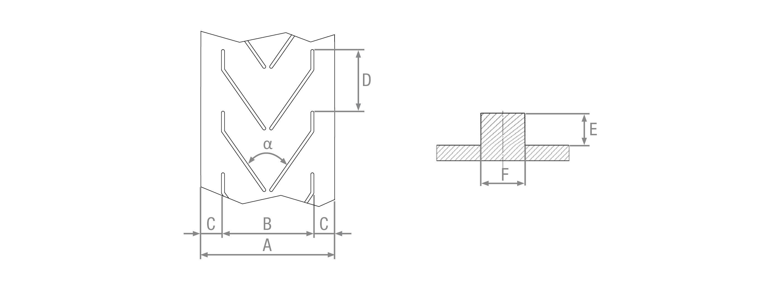 Nastri in gomma listellati stampati