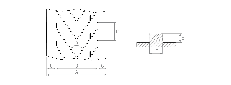 Nastri in gomma listellati stampati 2