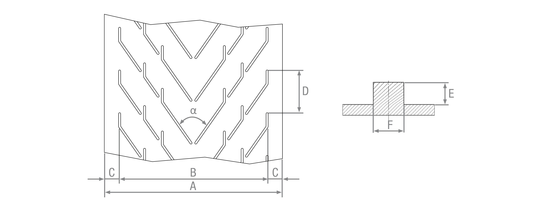 Nastri in gomma listellati stampati 3